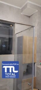 Cabina de dus sticla securizata - Total Prof Design - Fereastra de top